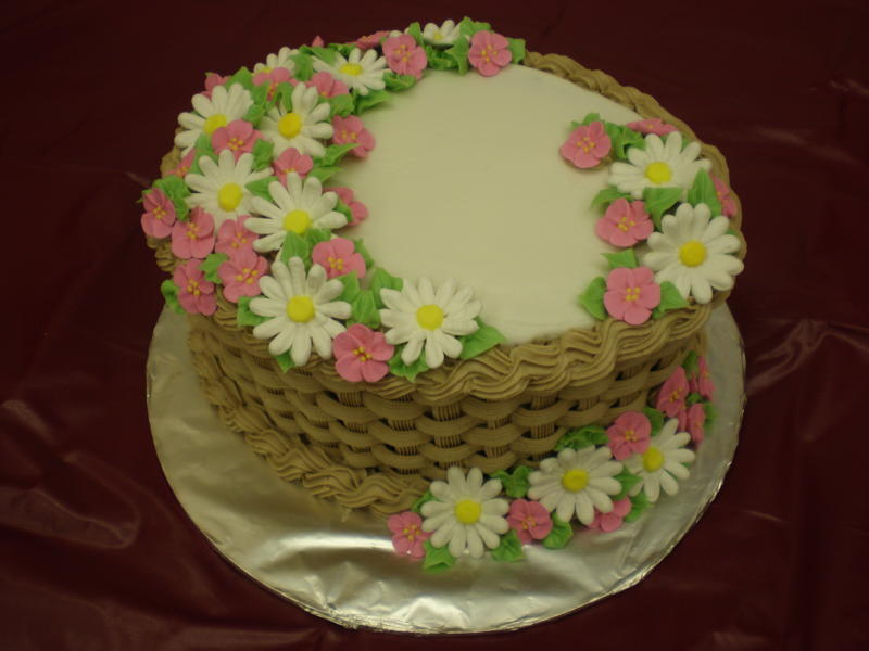 How To Make A Basket Of Flowers Cake : Flower basket ? kathryn s cake pe